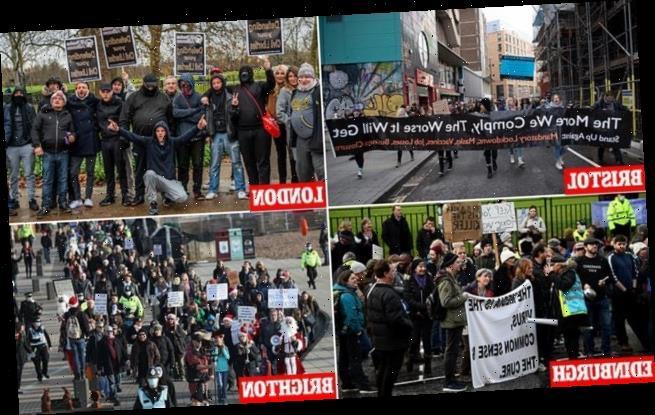 Coronavirus UK: Protesters hit the streets