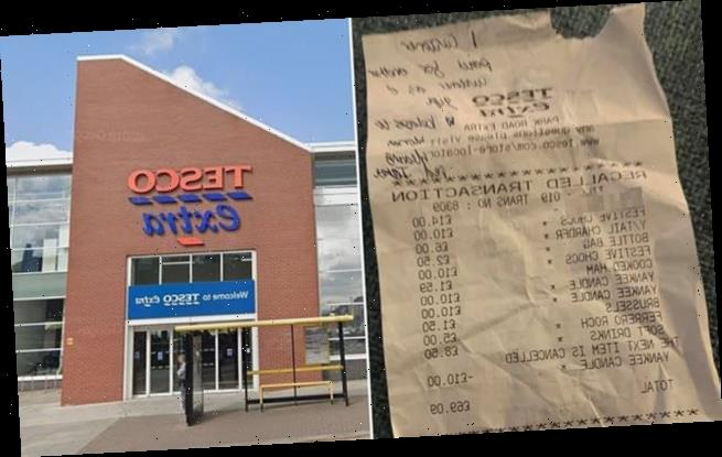 Tesco customer overcome after 'young girl' pays for her £69 shopping