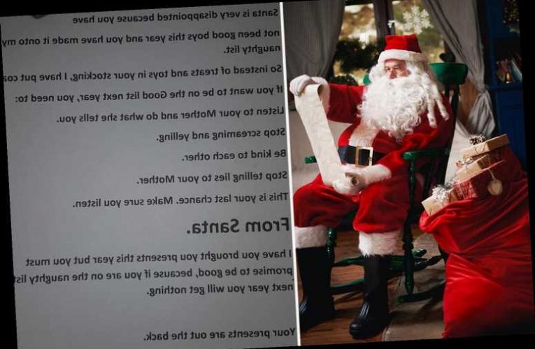 Mum sick of her sons' constant fighting gives them brutal letter from Santa and people are absolutely horrified