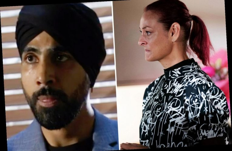 EastEnders Kheerat Panesar warns Tina Carter that Gray Atkins is dangerous as she grows suspicious of killer