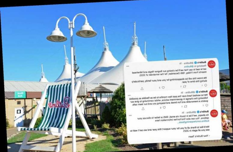 Butlin's closes all three resorts until the end of the year after 11m more Brits plunged into Tier 3