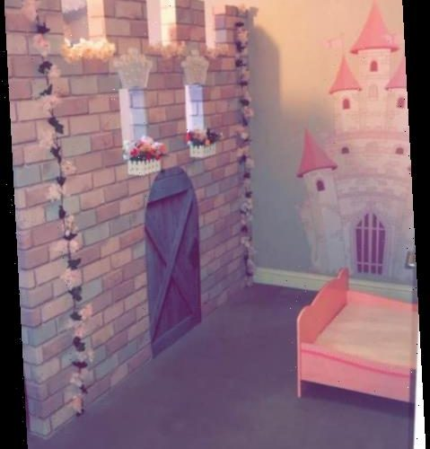 Mum creates incredible princess wall partition for her daughter who sleeps in their room to 'give her space'