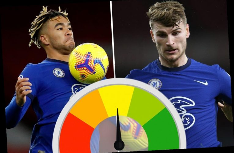 Chelsea player ratings: Werner hauled off at break and unfit James concedes penalty as awful Blues hammered by Arsenal