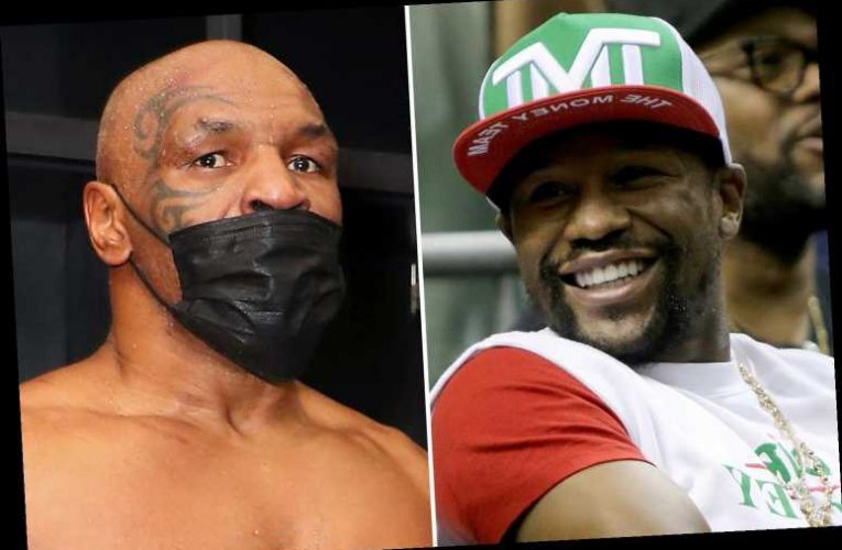 Mike Tyson hits back at Floyd Mayweather over boxing titles criticism and says more belts means extra money
