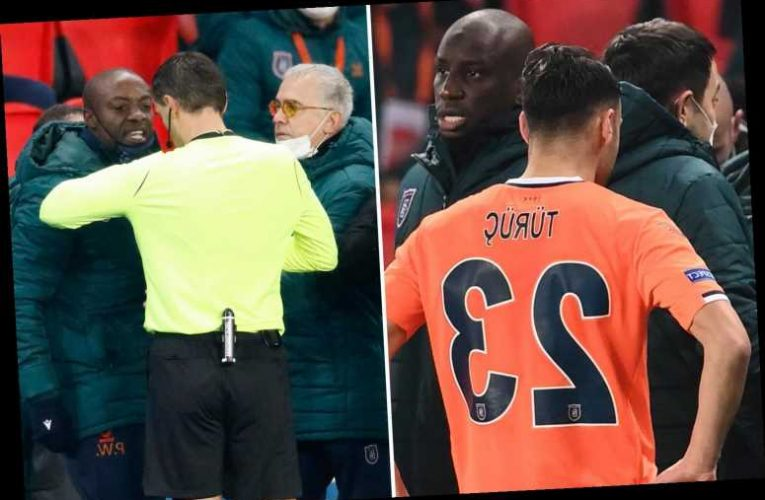 PSG vs Istanbul ABANDONED as Demba Ba leads stars off pitch after official 'racially abuses' Basaksehir assistant boss