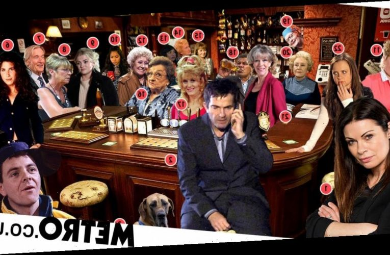 Can you spot and name the 22 Coronation Street characters in this image?