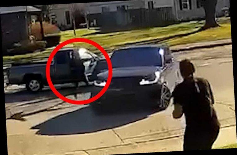 Video shows horrifying road-rage shooting in Michigan