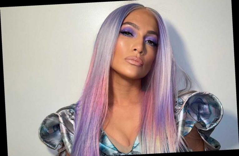 Jennifer Lopez looks unrecognizable with purple hair in new music video