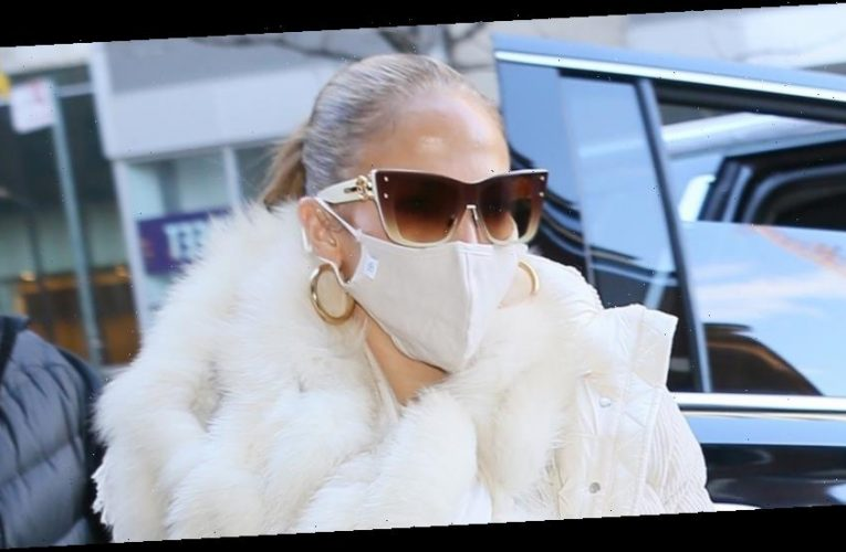 Jennifer Lopez Heads to New Year's Eve Rehearsal in NYC