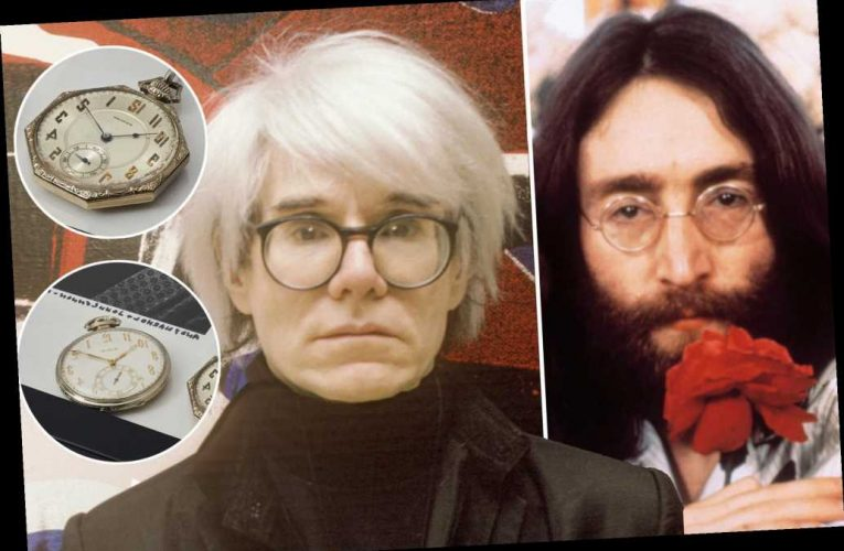 John Lennon and Andy Warhol pocket watches auctioning for $40K