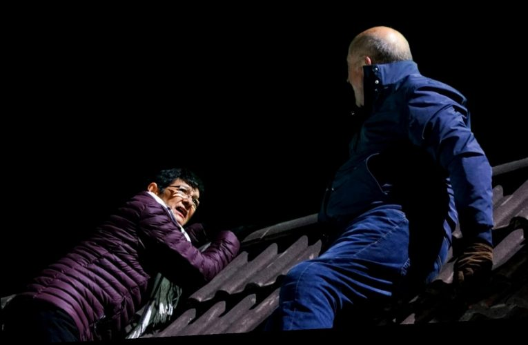 Coronation Street's Geoff Metcalfe attacks Yasmeen on the roof in dramatic battle for soap's 60th anniversary tonight
