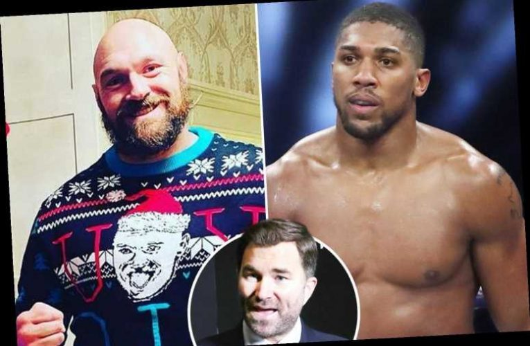 Eddie Hearn hits back at Tyson Fury after Anthony Joshua remark and says 'we'll see who is s******* themselves'