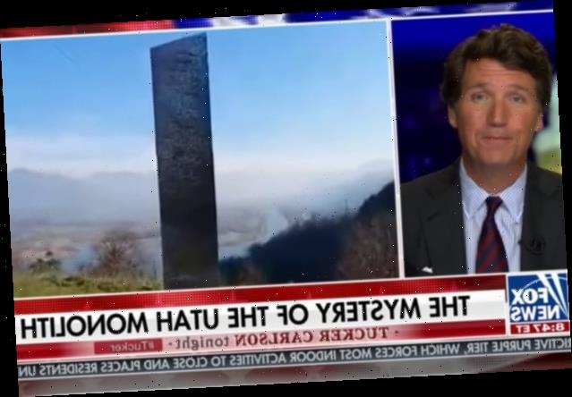 Tucker Carlson Thinks Aliens Might Be Responsible for That Weird Utah Monolith (Video)