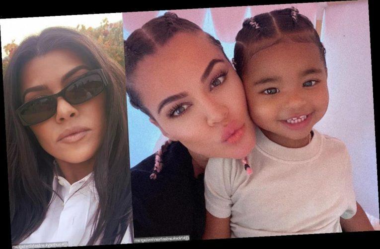 Khloe Kardashian's Daughter Cutely Crashes Her Promo Videos for Kourtney's Poosh Website