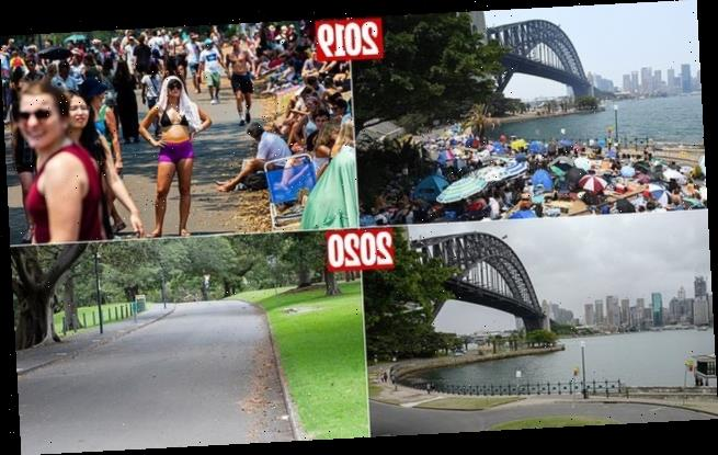 Pictures show a wet, cold and empty Sydney on New Year's Eve