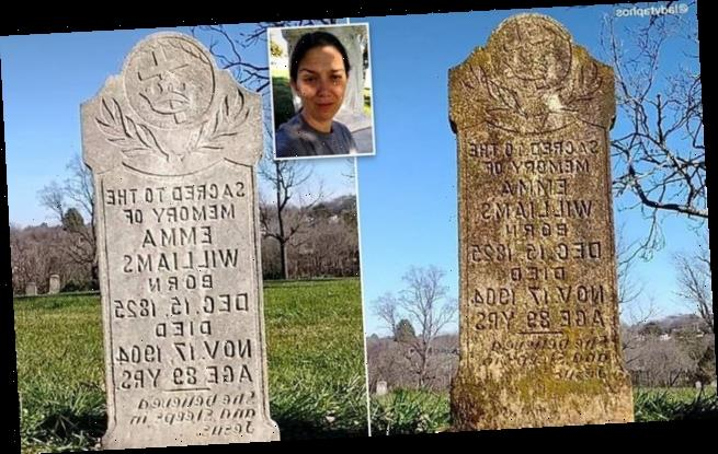 Woman took up TOMBSTONE cleaning to help her 'heal' from her divorce