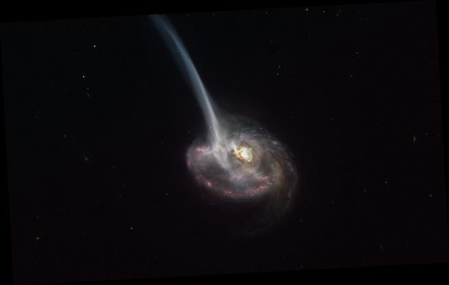 Astronomers capture amazing image of a dying galaxy