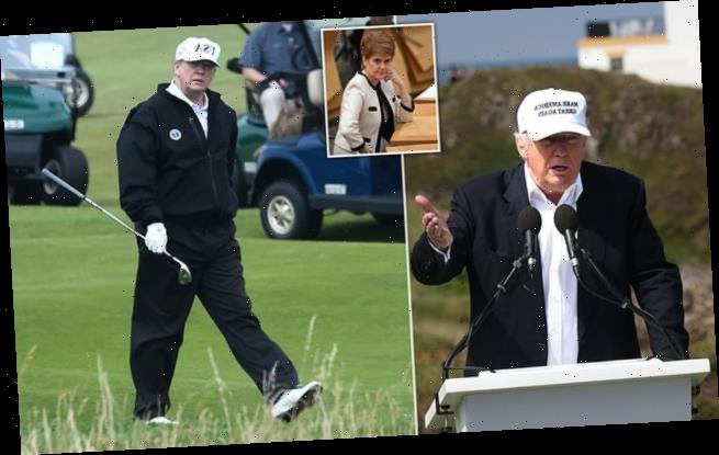 Donald Trump will NOT fly to Scotland to play golf