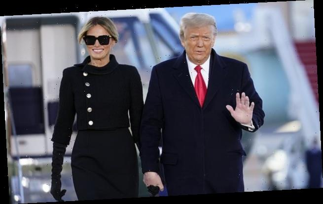 Trump and Melania leave the White House for the final time