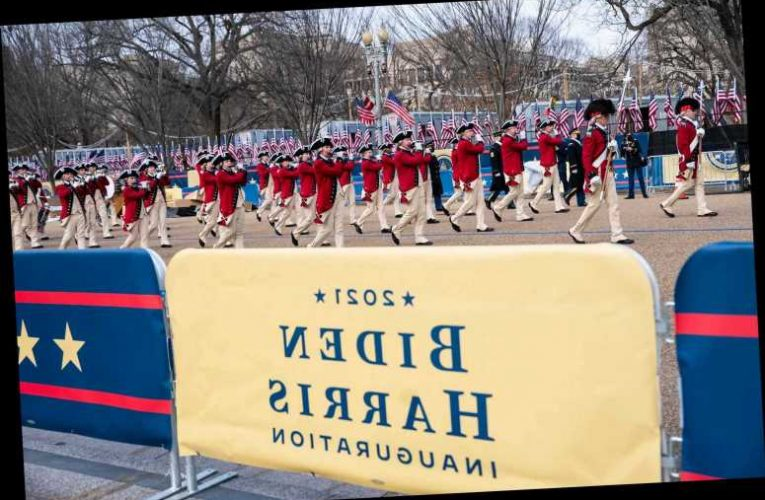 What time is the inaugural parade today, January 20 2021?