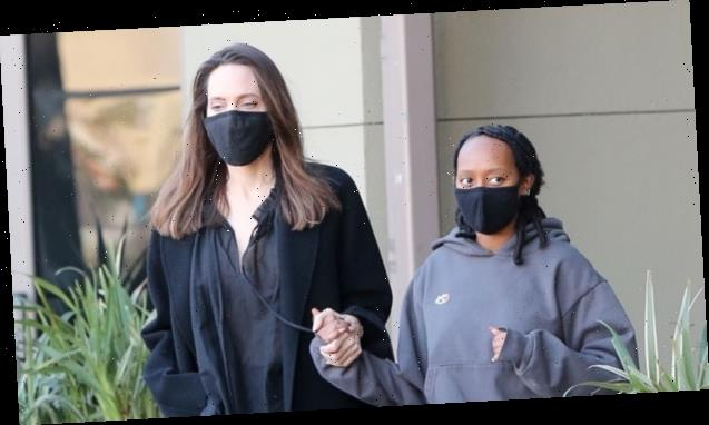 Angelina Jolie Holds Hands With Beautiful Zahara, 16, On Mother-Daughter Shopping Trip
