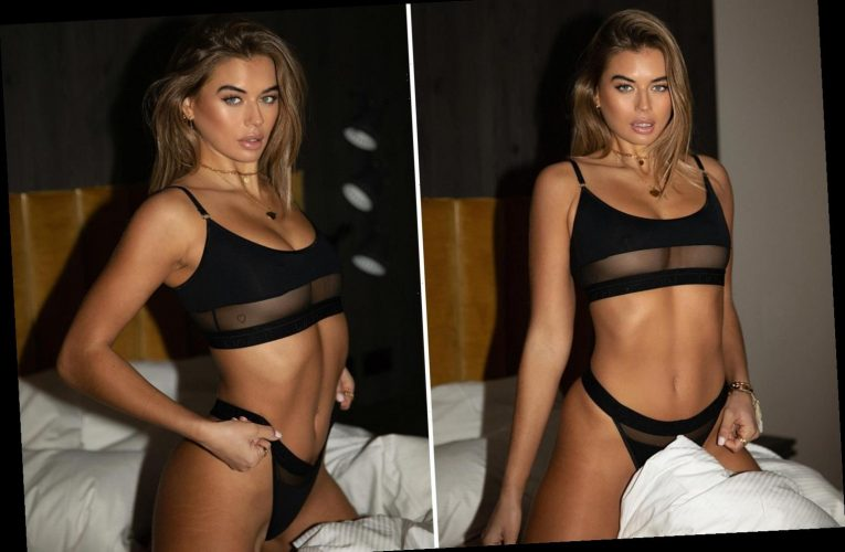 Love Island's Arabella Chi flashes underboob in see-through lingerie
