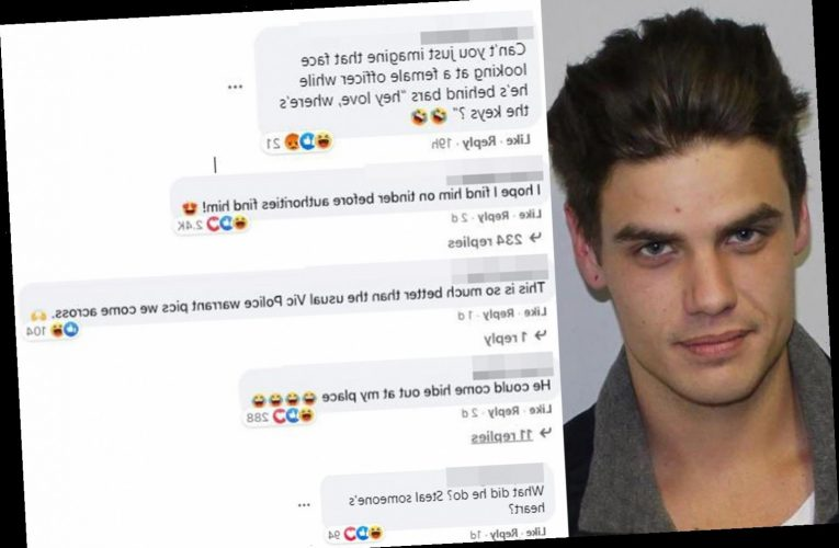 Women lust over 'sexy' mugshot of wanted man with 'dreamy eyes,' joking 'I hope I find him on Tinder before cops do'