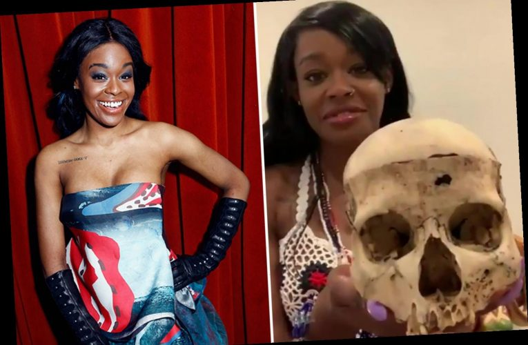 Azealia Banks shows off SKULL of girl, 6, who died of head trauma after digging up her dead cat and boiling it