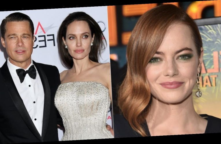 Emma Stone's Mom Caused an Awkward Moment With Angelina Jolie and Brad Pitt at Her First Golden Globes