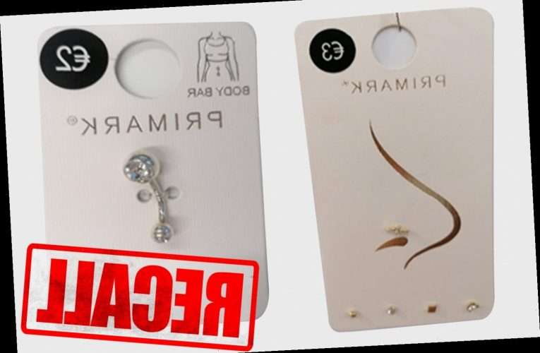 Primark recalls jewellery over fears they can lead to allergic skin reactions