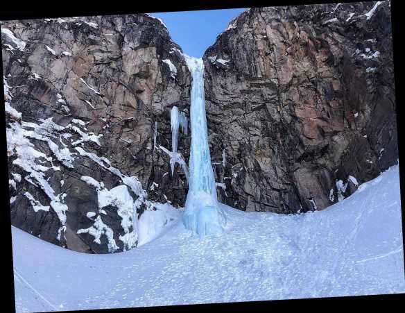Tourist dead and 4 others trapped under 130ft frozen waterfall after huge lump of ice fell on them