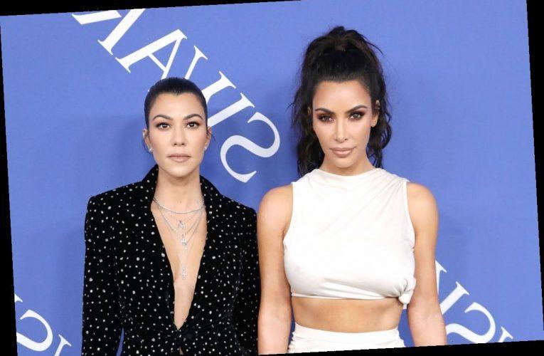 This Face Mask Made Kim and Kourtney Kardashian Unrecognizable