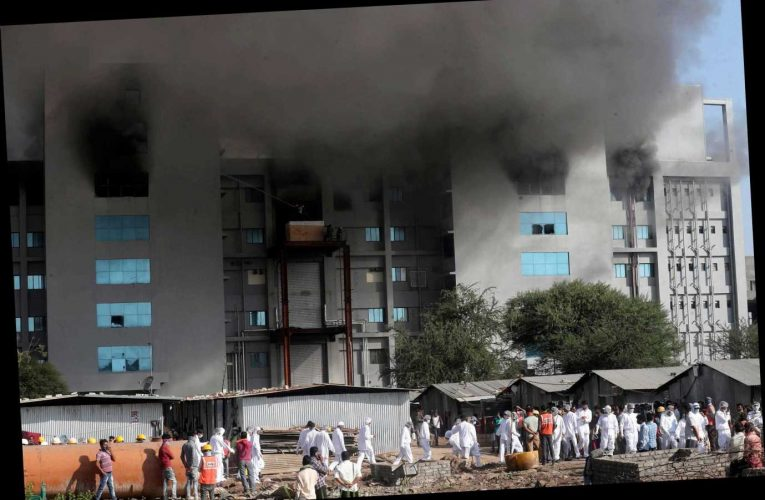 Huge fire breaks out at world's biggest Covid vaccine factory in India