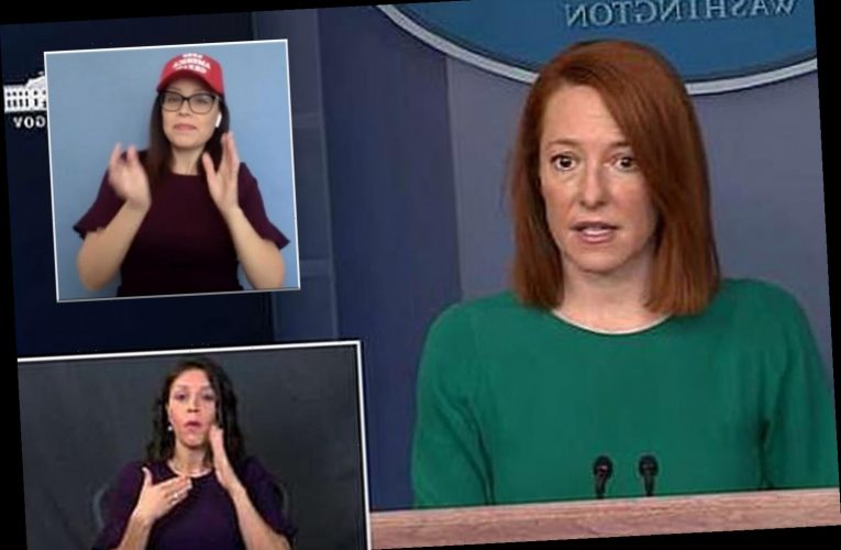 Calls to remove Biden's new ASL interpreter as it's claimed she runs a group spreading 'right-wing conspiracies'