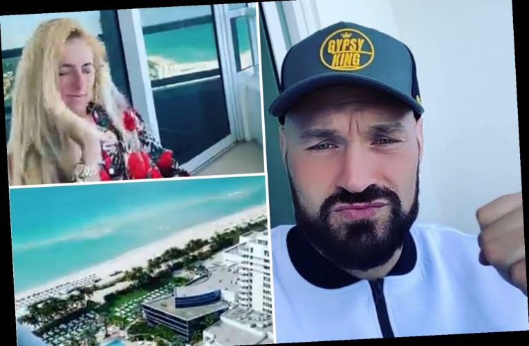 Tyson Fury shares incredible view from hotel room as he enjoys holiday with wife Paris with UK in coronavirus lockdown