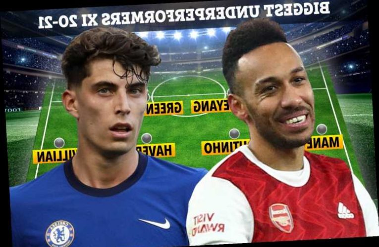 Premier League supercomputer picks out most under-performing XI of season so far including Aubameyang and Mane