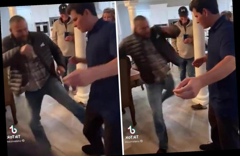 Watch UFC legend Dan Henderson deliver vicious leg kick to daughter's boyfriend leaving him in agony on New Year