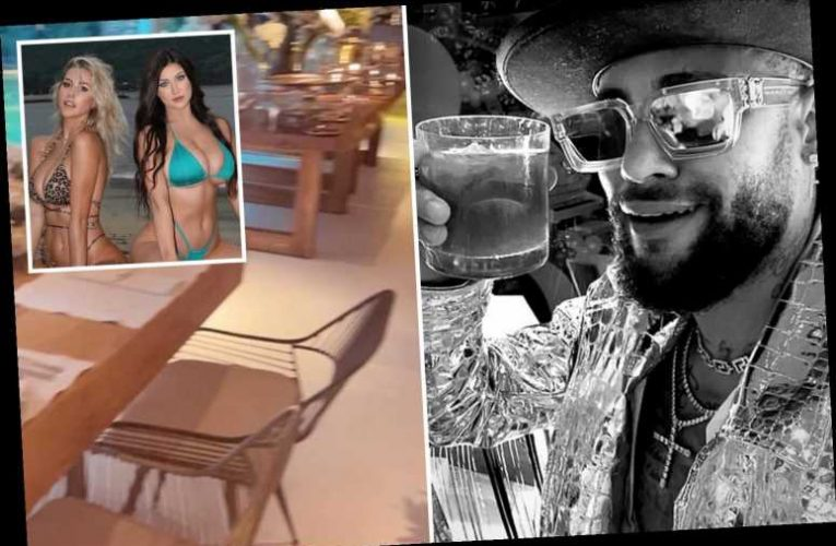 Neymar enjoys 'low-key dinner at home' as he hits back at claims he flew models in for 500-person New Year's Eve bash