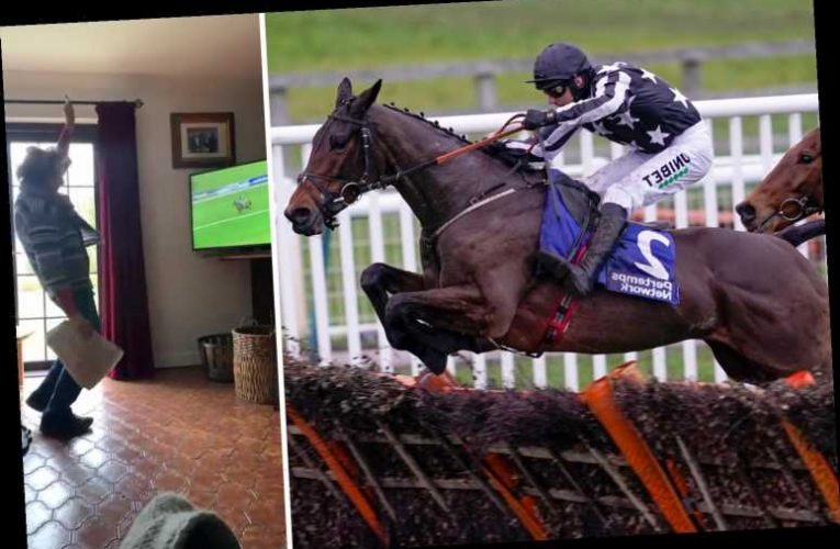 Mum of jockey Paddy Brennan goes viral as she hilariously roars at TV in support, leading to joke she is biggest fan