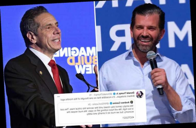 Don Jr mocks Gov. Cuomo's calls to reopen New York – months after President  Trump said businesses should be open