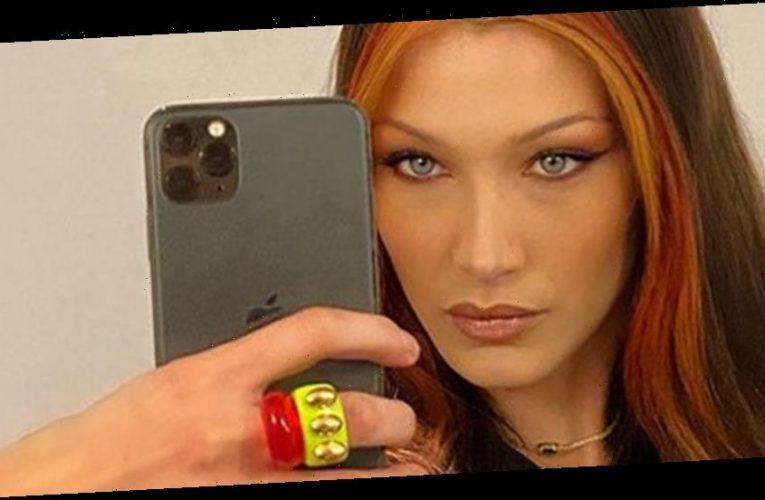 Bella Hadid Strikes a Fierce Pose & Shows Off Fiery New Hair in Selfie