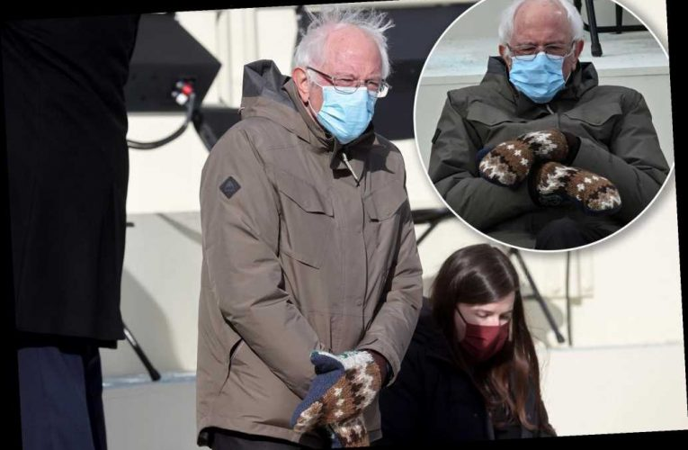 Bernie Sanders roasted on Twitter for wearing parka, mittens to inauguration
