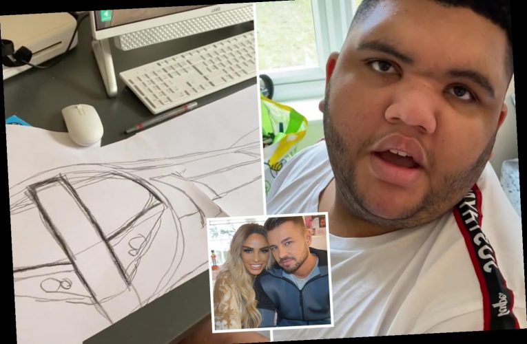 Katie Price's son Harvey wows fans with incredible drawing of a Gatwick Express train for her and boyfriend Carl Woods
