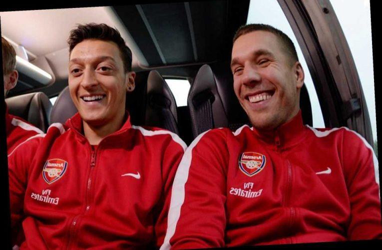 Podolski blasts former club Arsenal for bitter Mesut Ozil transfer exit after 'kicking' German out of squad