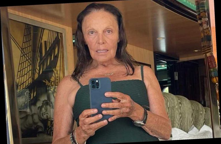 """Diane von Furstenberg posts swimsuit selfie at 74: """"Own your age"""""""