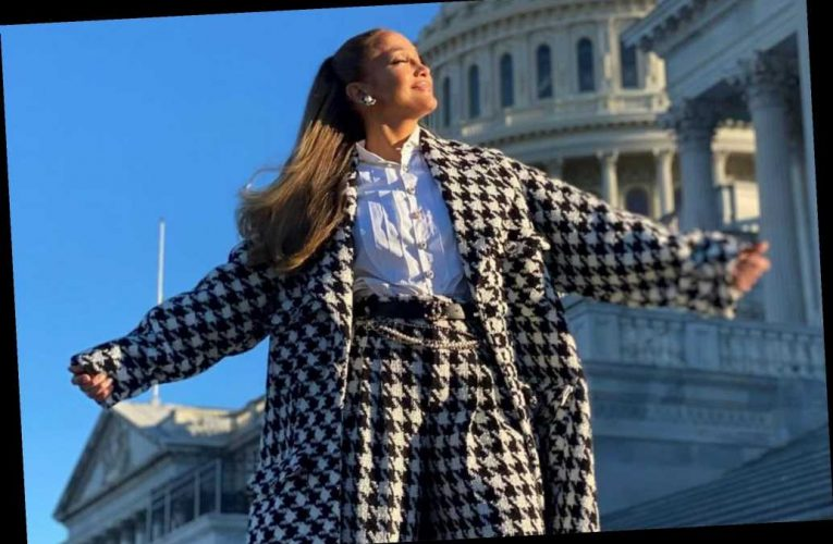 Jennifer Lopez looks sharp in Chanel ahead of Inauguration Day performance