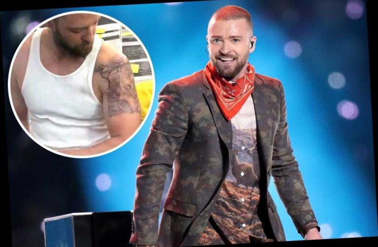 Justin Timberlake gets huge fake tattoo for new movie 'Palmer'