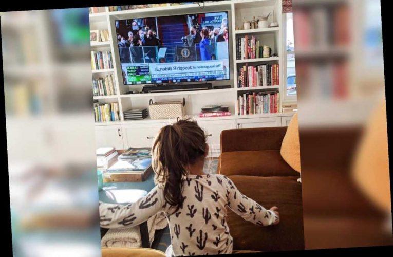 Mindy Kaling posts adorable photo of daughter watching Kamala Harris' swearing-in