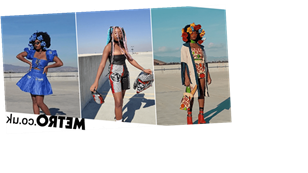 Student turns shopping bags into incredible high-fashion outfits