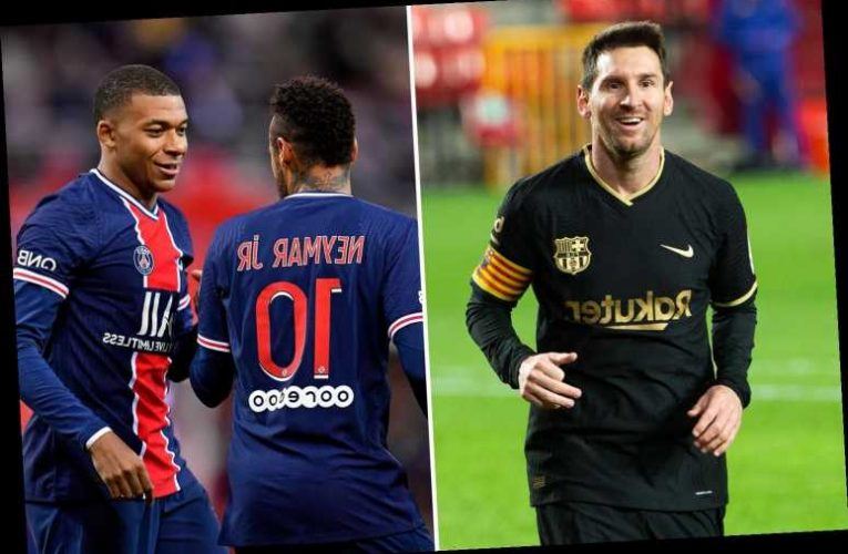 Man City boost in Messi transfer chase as PSG 'cannot afford £135m-a-year wages of Barcelona star, Neymar and Mbappe'